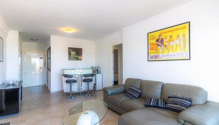 Vista del salón de un apartamento en venta en Jávea - Vicens Ash Properties