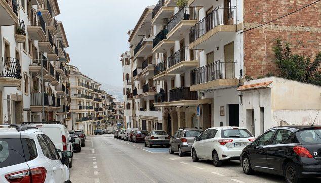 Imagen: Vista general de la calle Arquitecto Urteaga de Xàbia