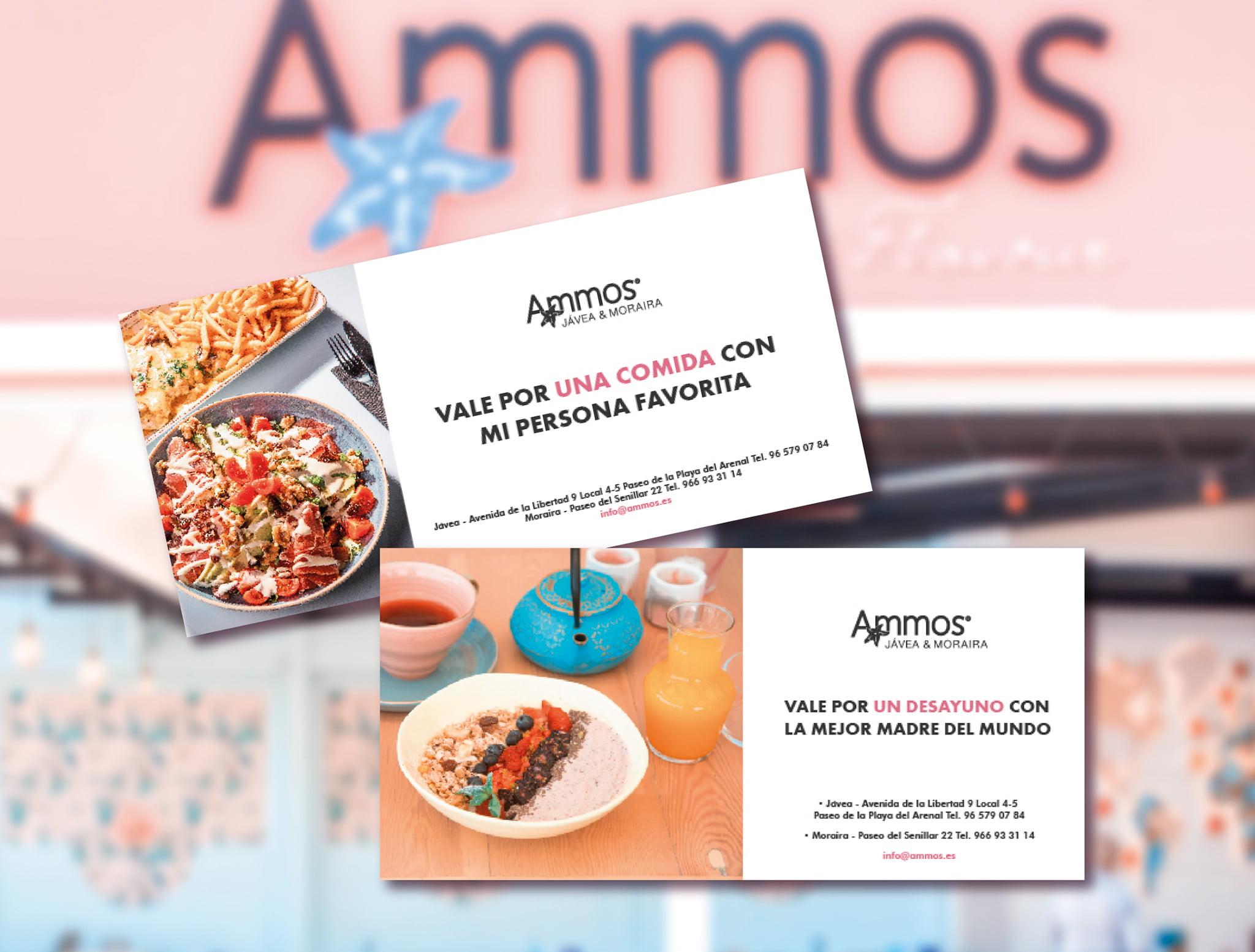 Bonos regalo – Restaurante Ammos