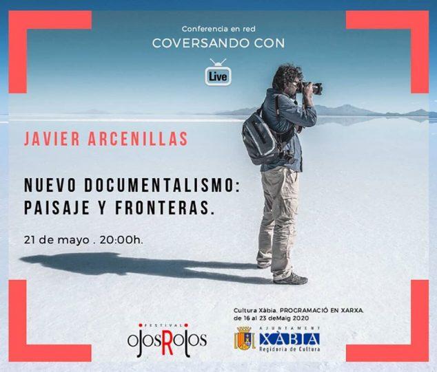 Imagen: Conferencia online con Javier Arcenillas
