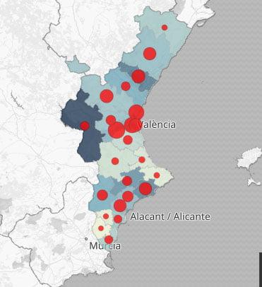 Contagios en la Comunitat Valenciana