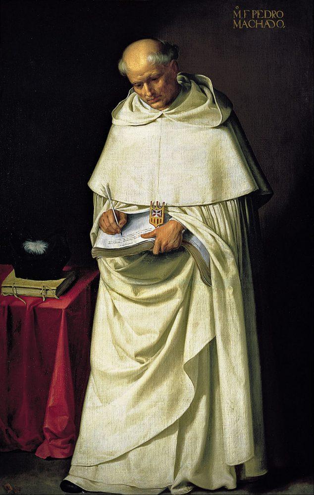 Imagen: Francisco de Zurbarán-Fraile mercedario. Fray Cristóbal Bas