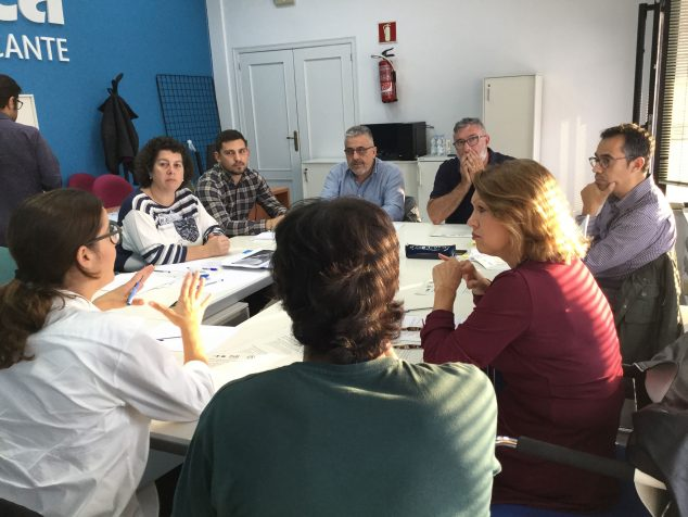 Imagen: Grupo de discusión en octubre de 2018