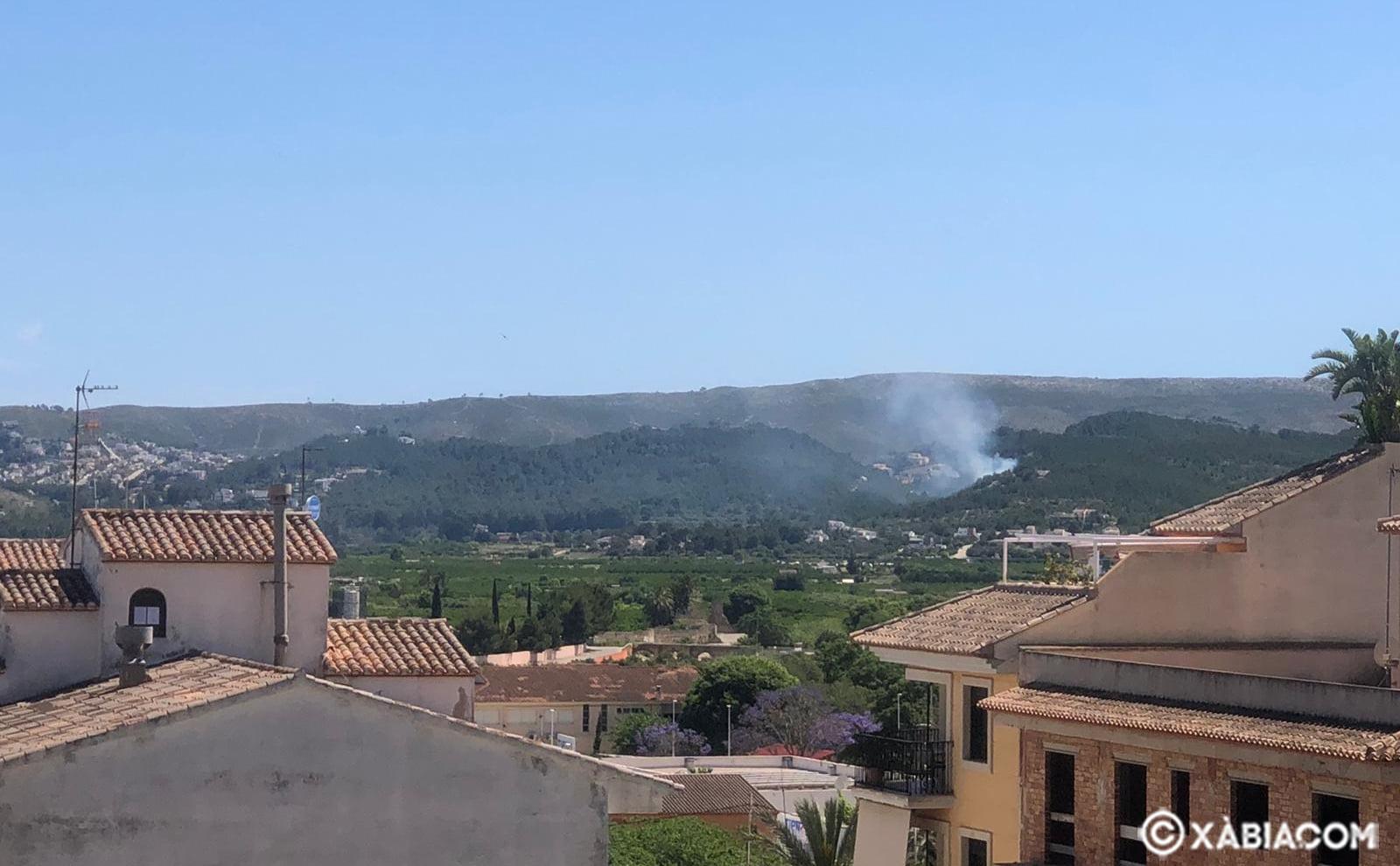 Incendio en Xàbia
