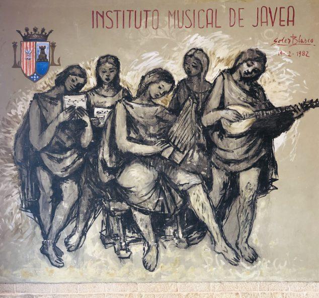 Imagen: La alegoría de la música pintada por Soler Blasco