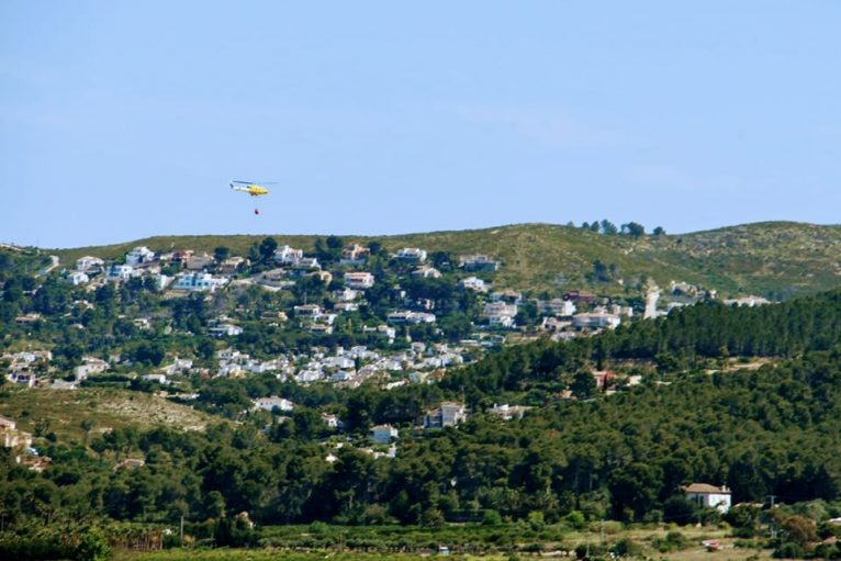 Medio aéreo en las labores de extinción
