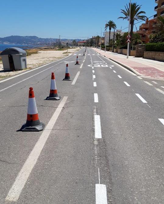 Imagen: Peatonalización del I Montañar Xàbia