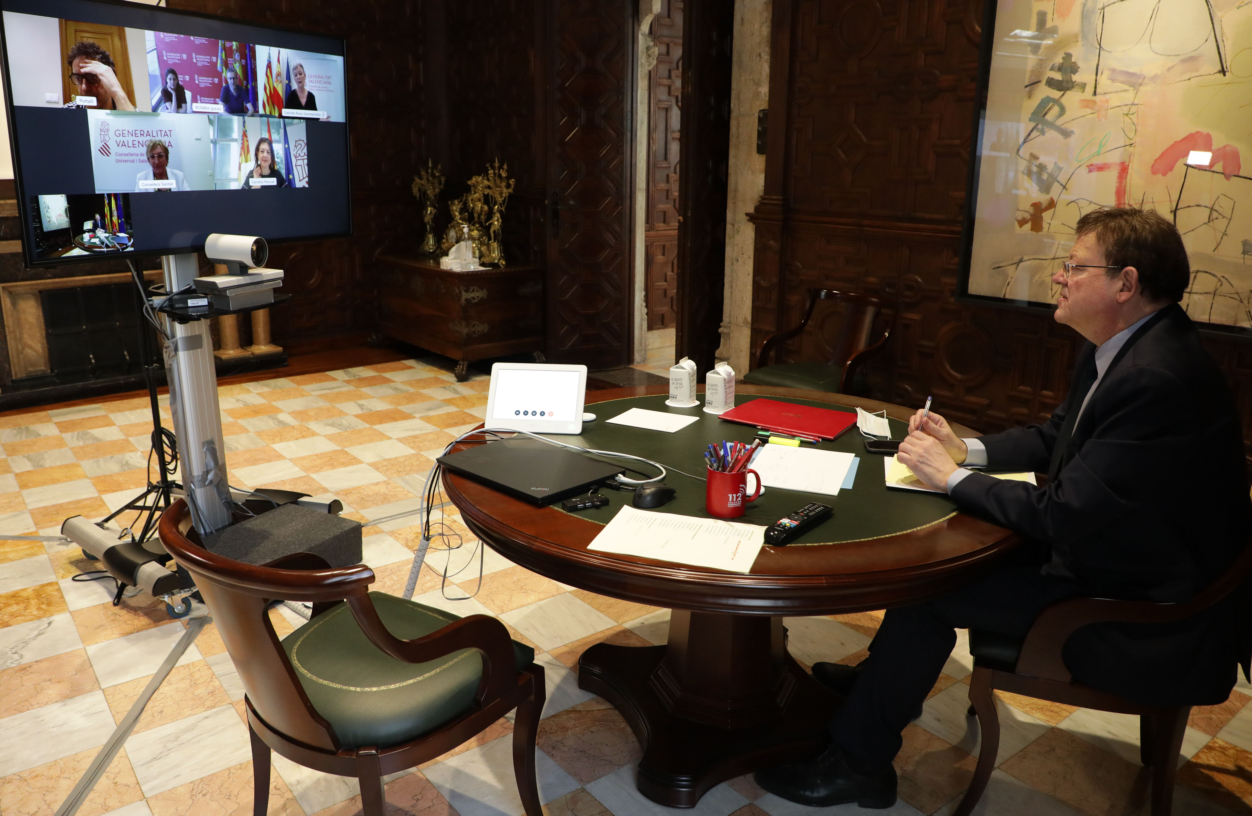 President de la Generalitat en videoconferencia