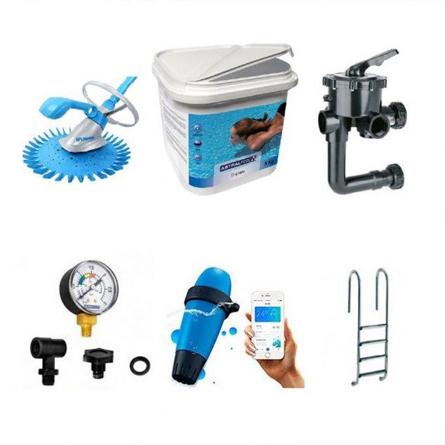 Imagem: Todos os tipos de peças de reposição, produtos químicos e materiais para piscinas - Sanexabia Saneamientos
