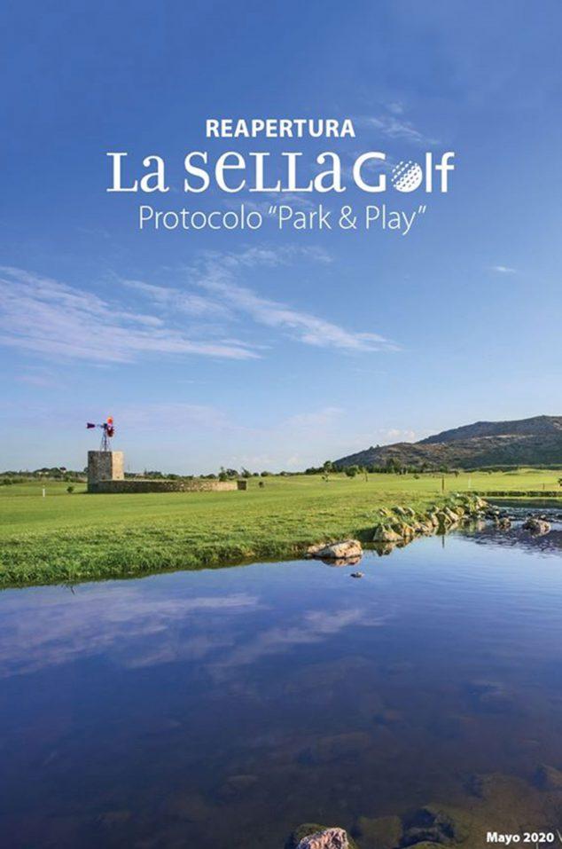 Imagen: Imagen del protocolo elaborado por La Sella Golf para el uso de sus instalaciones