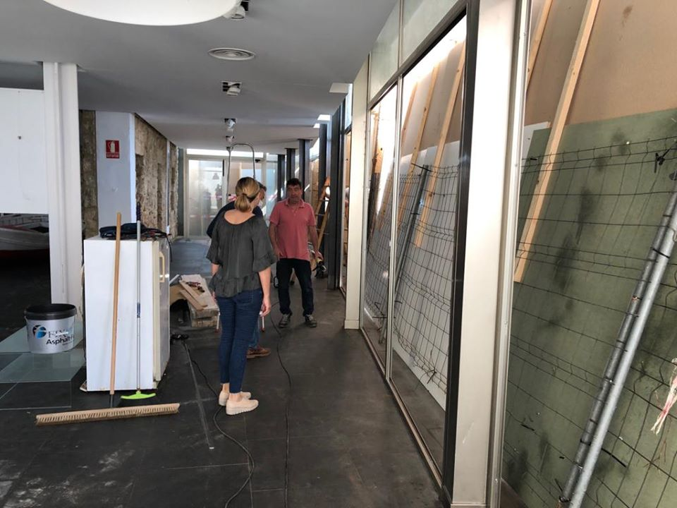 Reparación de la sala de exposiciones de la Casa del Cable