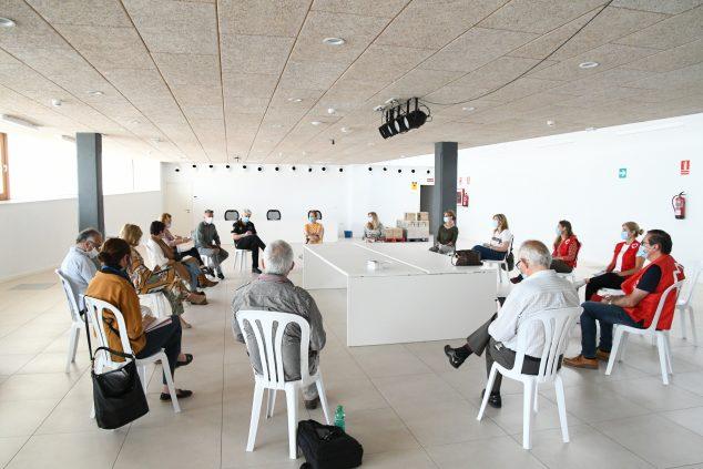 Imagen: Reunión de la Mesa Solidaria de Xàbia