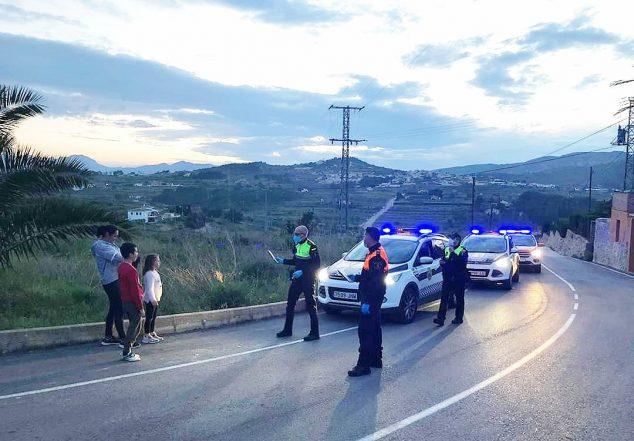 Imagen: Ronda de Policía Local y Protección Civil de Benitatxell