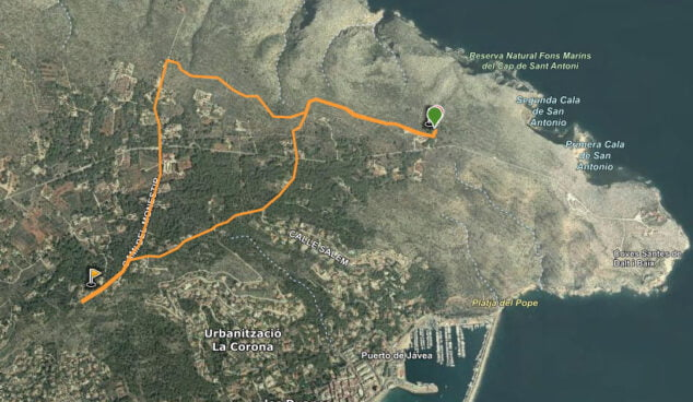 Imagen: Ruta area recreativa-molins