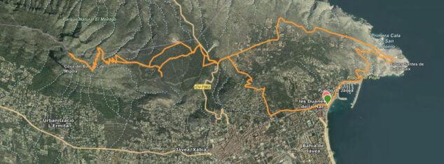 Imagen: Ruta larga a la cima del Montgó desde el Puerto de Xàbia