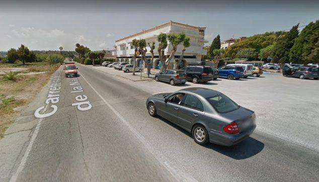 Imagen: Tramo de la Carretera Cabo la Nao-Pla que falta urbanizar