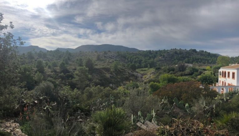 Vistas abiertas desde un chalet en venta en Gata de Gorgos - Terramar Costa Blanca