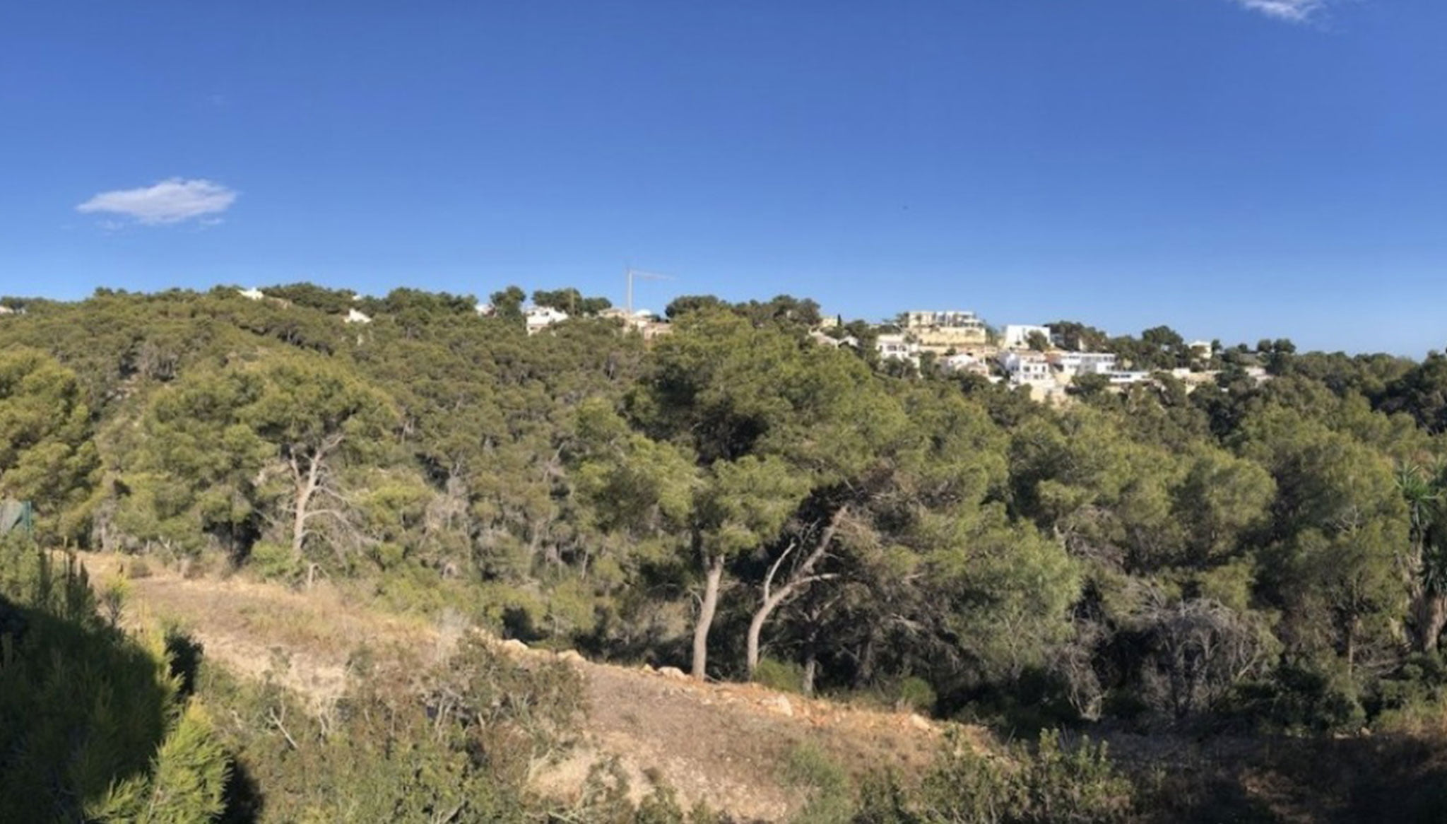 Vistas desde una villa en venta en la zona Ambolo – Terramar Costa Blanca
