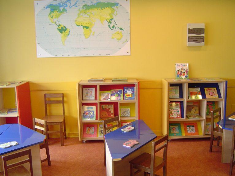 Aula de lectura de un centro escolar