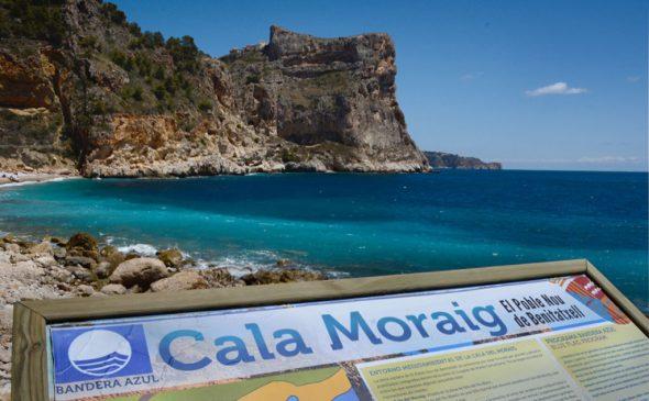 Imagen: Bandera azul Cala de Moraig