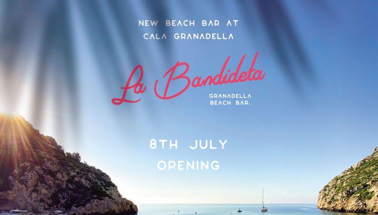 Cartel de la apertura de La Bandideta