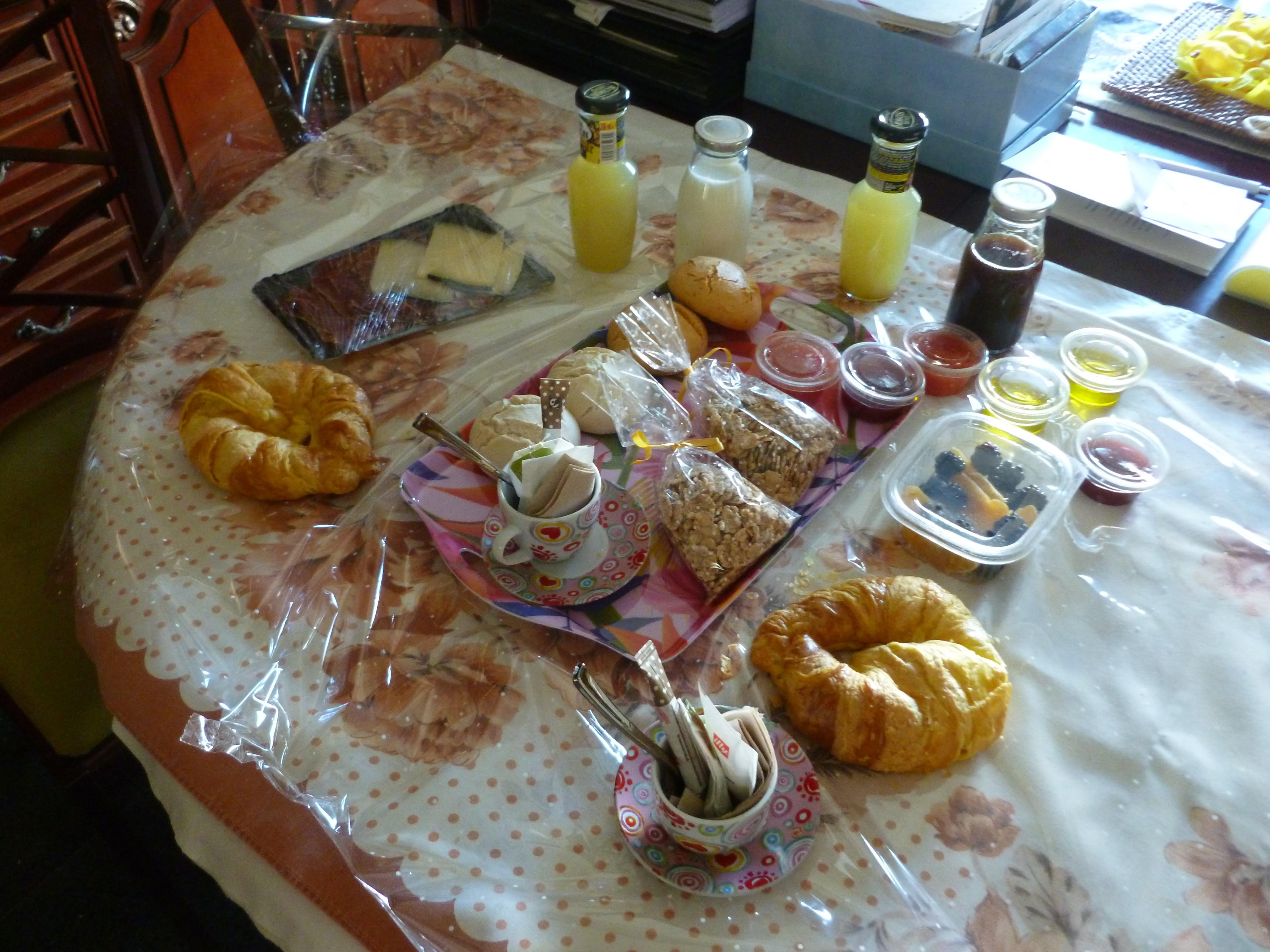 Desayuno sorpresa durante el confinamiento