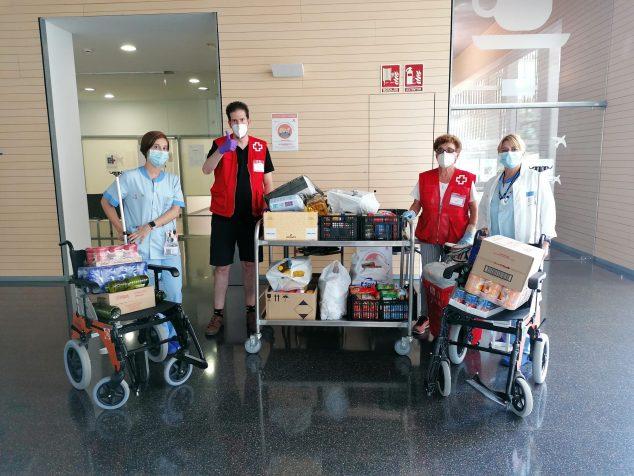 Imagen: Donación de alimentos en el Hospital de Dénia