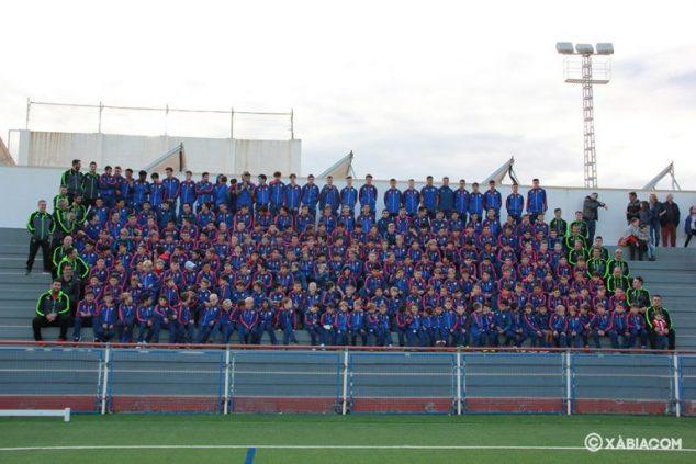 Imagen: Equipos de la Escuela de Fútbol del CD Jávea temporada 2019-20