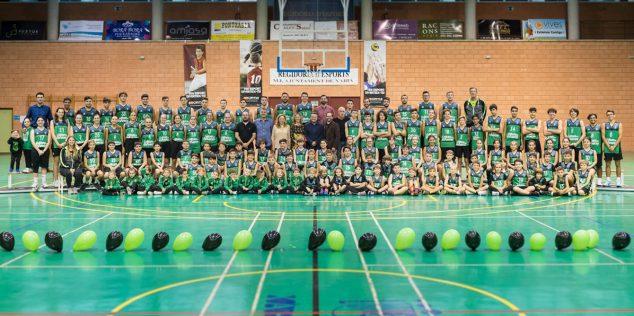 Imagen: Equipos del CB Joventut Xàbia
