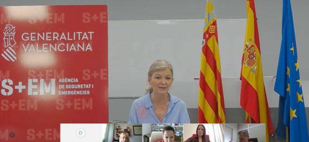 Imagen: Gabriela Bravo en videoconferencia