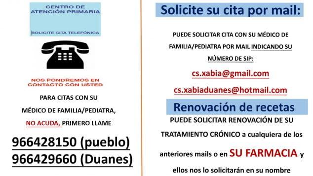 Imagen: Instrucciones Centro de Salud