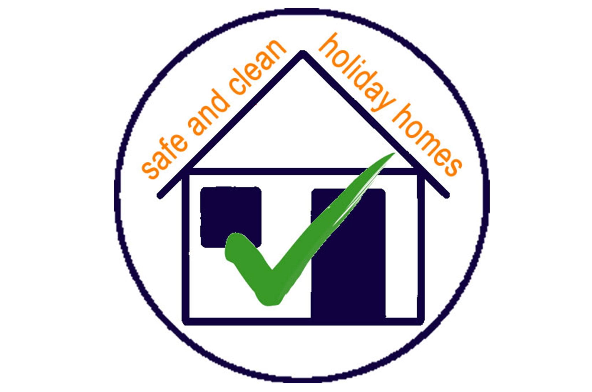 Logotipo de garantía Safe and Clean Holiday Homes