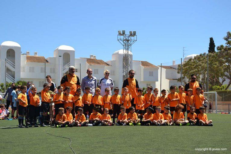 Niños del Club de Fútbol La Marina