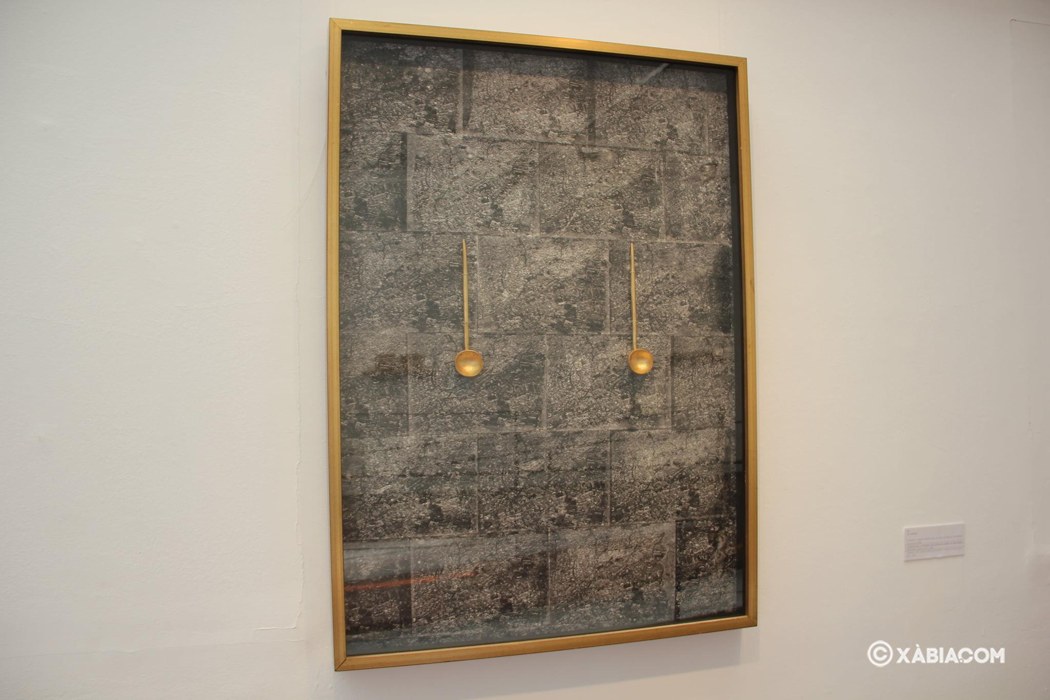 Obra expuesta en la Casa del Cable en la muestra itinerante 'd'ahir i d'ara'