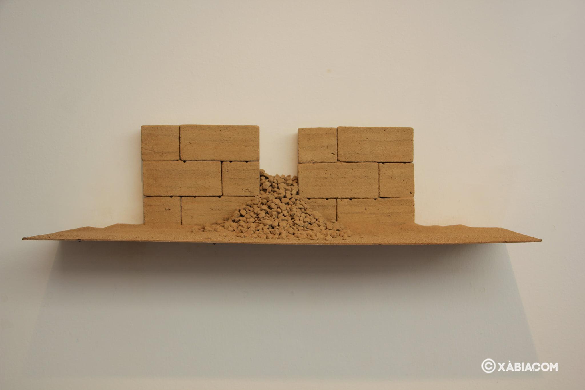 Obra 'Paissatge de l'ànima XLVIII' de Josep Pedrós i Ginestar en la Casa del Cable