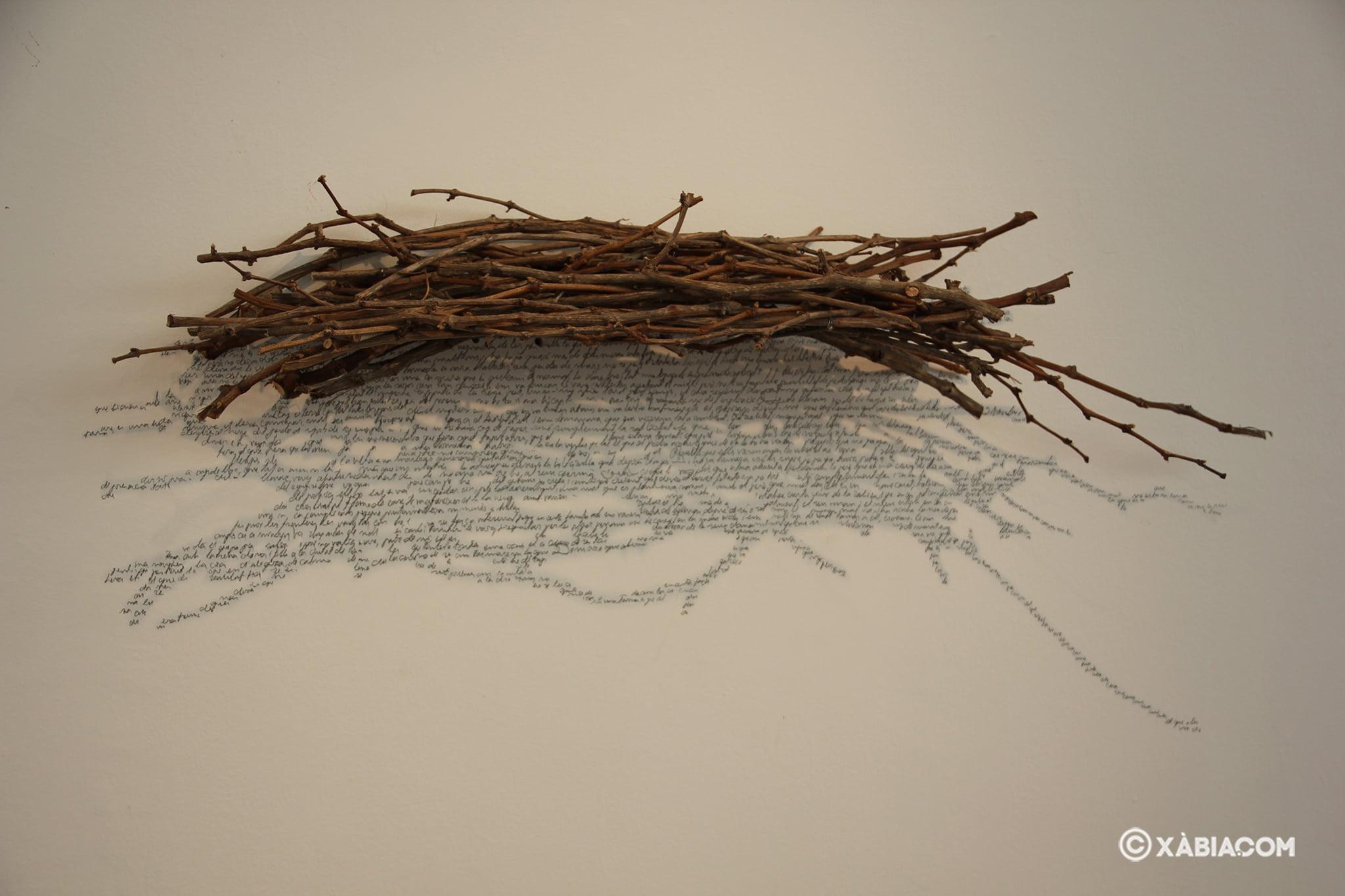 Obra 'Paissatge de l'ànima XVII' de Josep Pedrós i Ginestar en la Casa del Cable