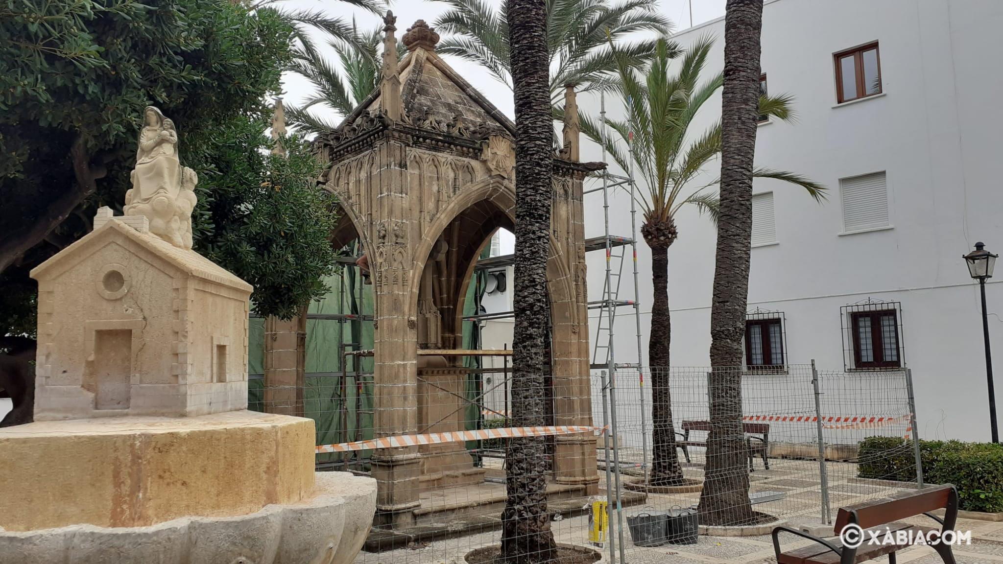 Obras rehabilitacion Templete del Jardín de Loreto