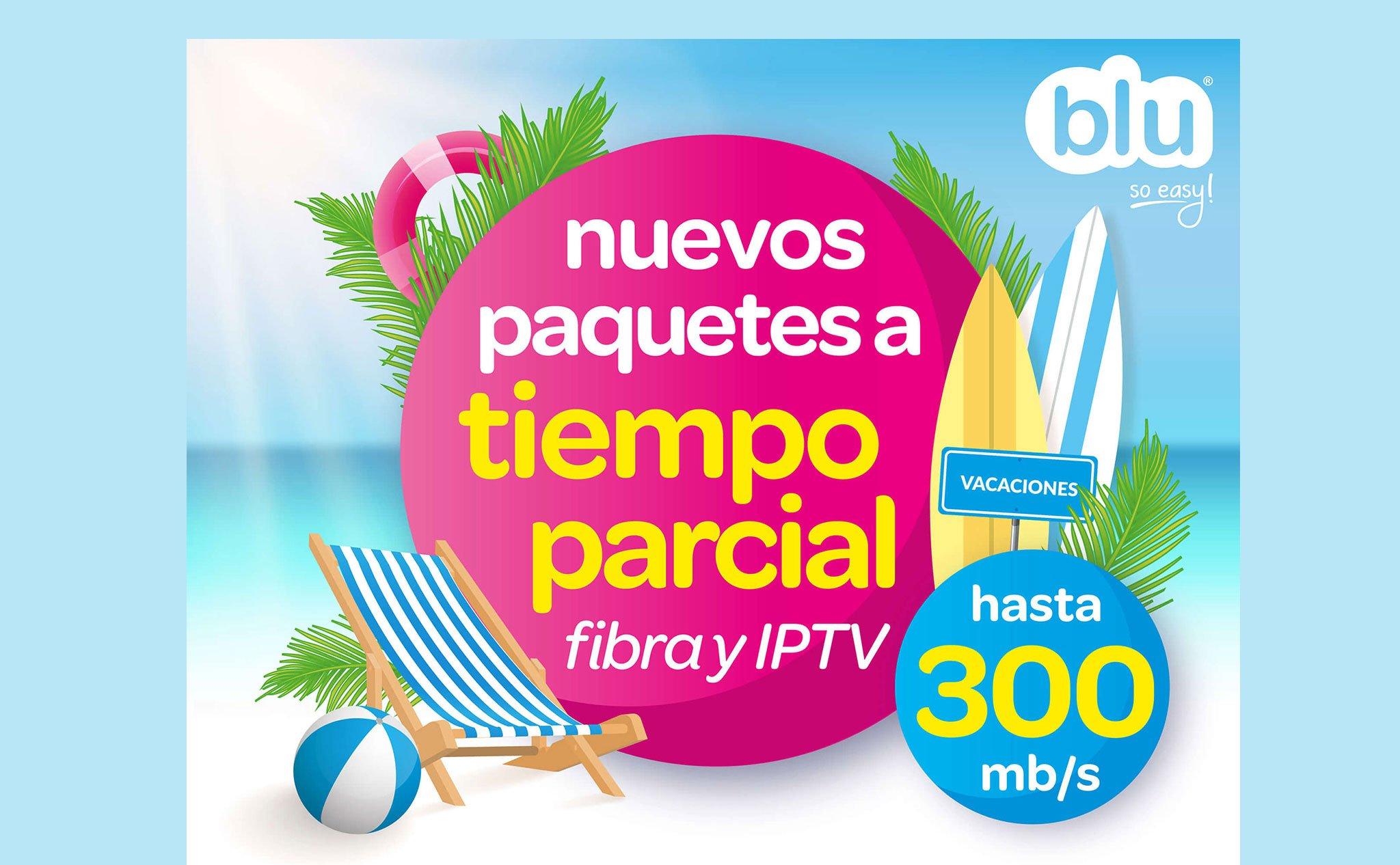 Paquetes de fibra óptica a tiempo parcial – Blu