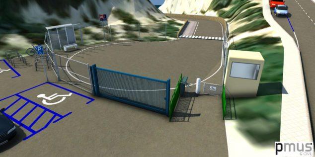 Imagen: Proyecto de estacionamiento en la Cala del Moraig