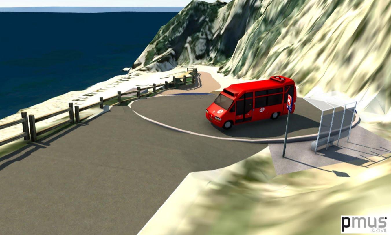 Proyecto de estacionamiento en la Cala del Moraig