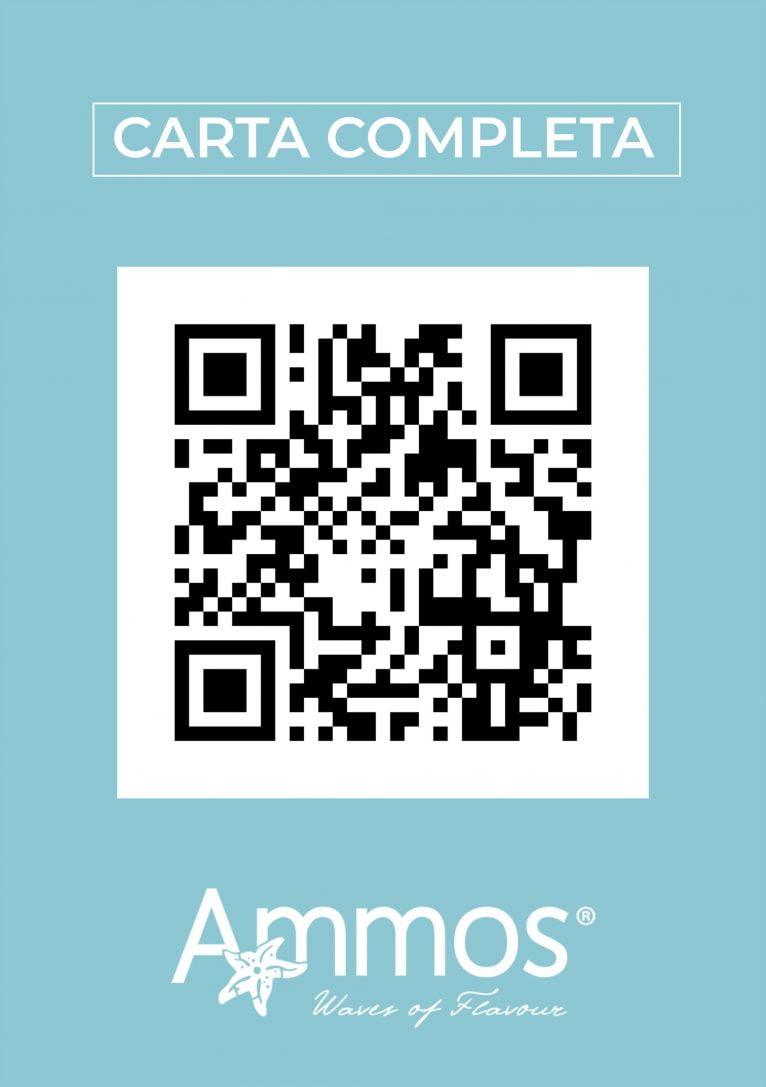 Codigo QR que contiene la carta de Restaurante Ammos Moraira - Avantcem