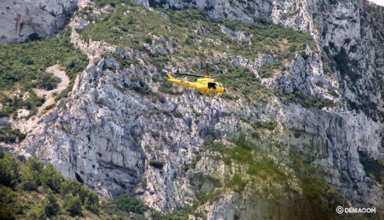 Rescate en el Montgó del grupo de bomberos de Alicante