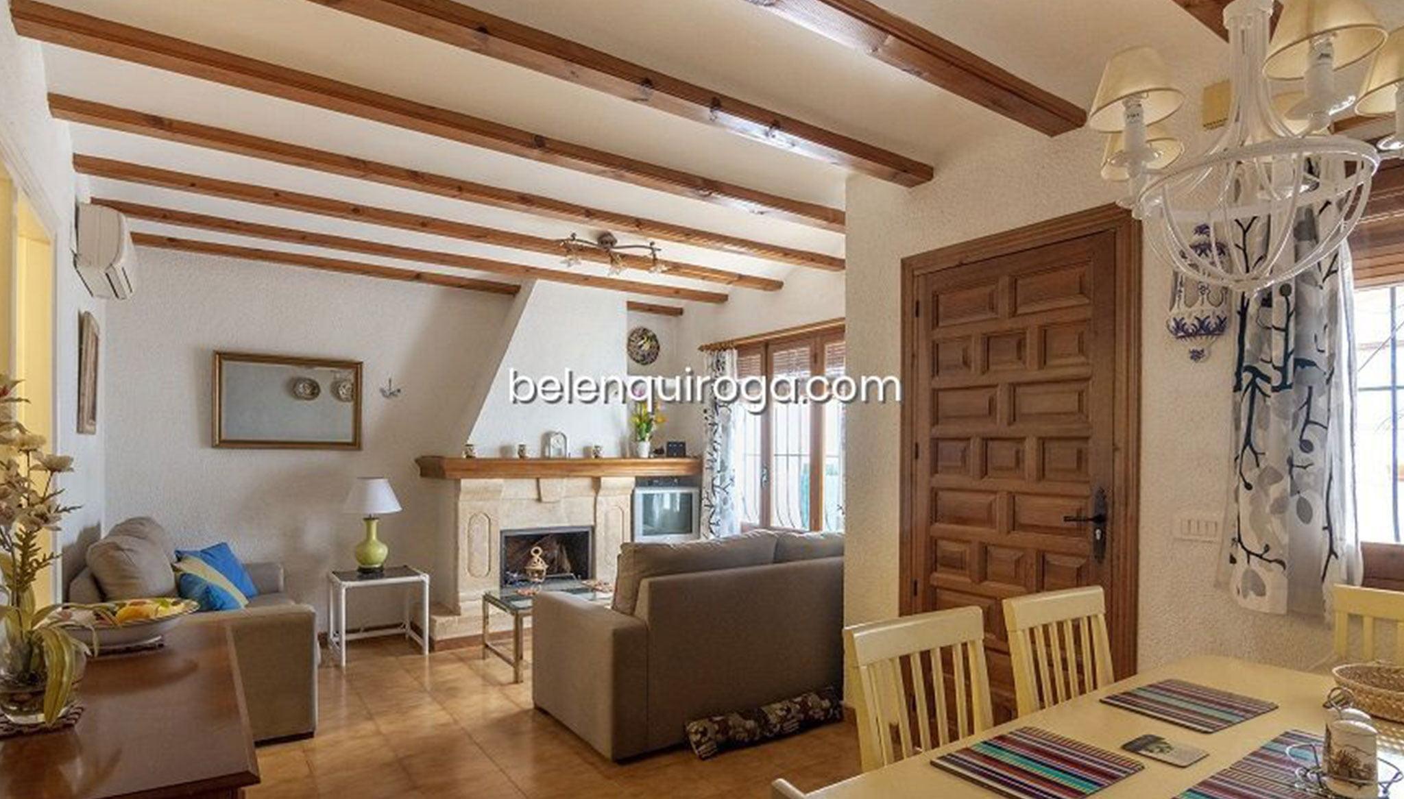 Salón de un bungalow en venta en Jávea – Inmobiliaria Belen Quiroga