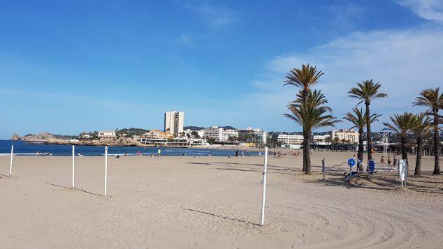 Situación de la playa en los primeros días acceso en la desescalada