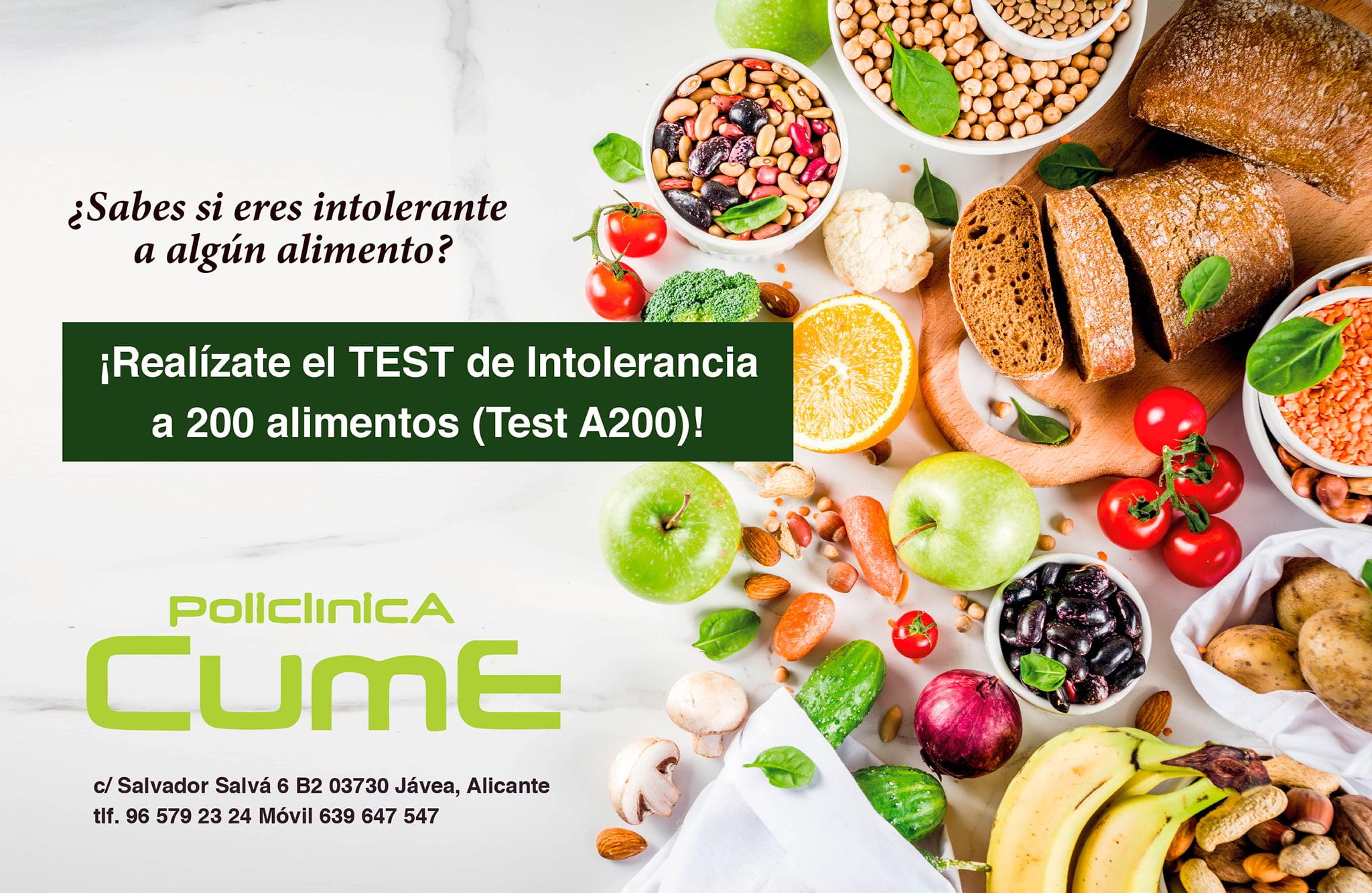 Test intolerancia alimentos – Policlínica Cume