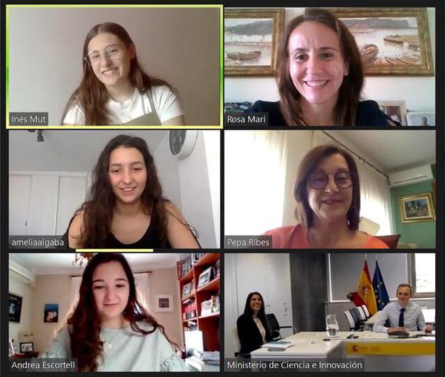 Videoconferencias de las jóvenes de Join Us con Pedro Duque
