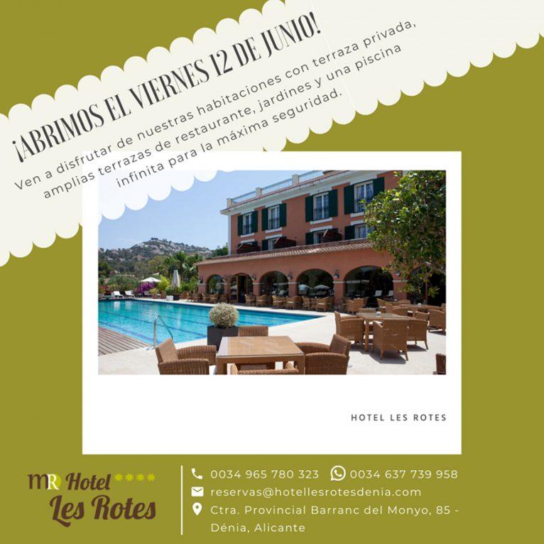Hotel Les Rotes reabre sus puertas