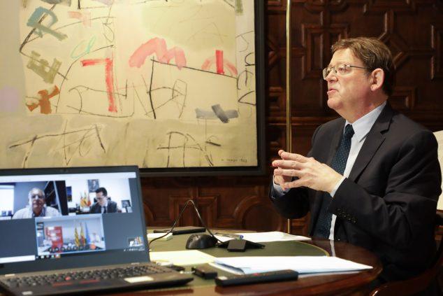 Imagen: Ximo Puig en la reunión