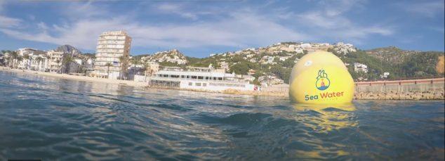 Imagen: Boya que mide la calidad de las aguas en la playa de la Grava