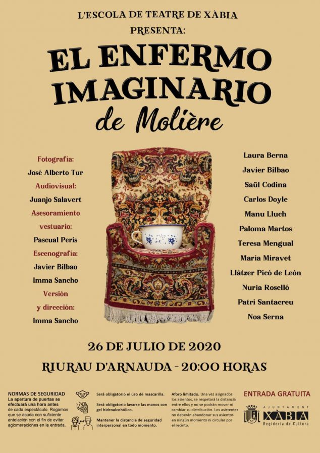 Imagen: Cartel de la obra de Teatro 'El enfermo imaginario'